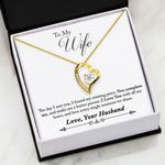 Love You With All My Heart Forever Love Necklace Gift For Wife