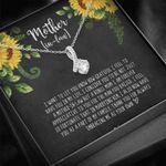 Thank For Loving Me Sunflower Alluring Beauty Necklace Gift For Mama In Law