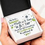 The Love Between Mom And Son Forever Love Necklace Gift For Mama
