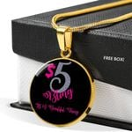$5 Bling It's A Beautiful Thing 18K Gold Circle Pendant Necklace Gift For Women