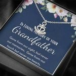 In Loving Memory Of Your Grandfather Anchor Necklace Gift For Women