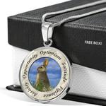 Rabbit Spirit Optimism Animal Circle Pendant Necklace Gift For Women