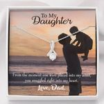 Gift For Daughter Snuggled Into Dad's Heart Alluring Beauty Necklace