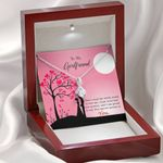 Gift For Girlfriend Special Person 14k White Gold Alluring Beauty Necklace