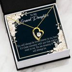 18K Gold Forever Love Necklace Gift For Granddaughter You're Amazing Forever Love Necklace Forever Love Necklace