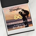 God Sent Angel Into My Life Infinity Heart Necklace Dad Gift For Daughter