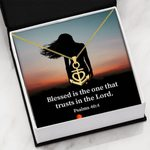 How Blessed Is The Man Religious Gift 18K Gold Anchor Necklace