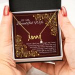 I Can't Imagine A Better Gift In My Life Gift For Wife Scripted Love Necklace