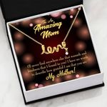How Grateful I Am That You Are Gift For Mom Scripted Love Necklace
