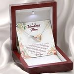 Gift For Mom Say Thank You For All The Things You Do Interlocking Hearts Necklace