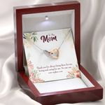 Gift For Mom Always Being There For Me Interlocking Hearts Necklace