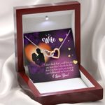 Gift For Wife I Could Love You Any More Interlocking Hearts Necklace