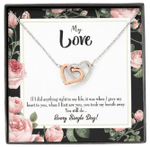 Gift For Future Wife Every Single Day Interlocking Hearts Necklace