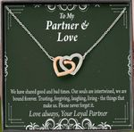 Gift For Partner We Have Shared Good And Bad Times Interlocking Hearts Necklace