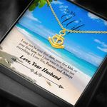 Beach I Love You Forever And Always Gift For Wife 18K Gold Anchor Necklace