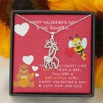 Giraffe Couple Necklace Parents Gift For Daughter Sweet Like Honey
