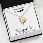 A Piece Of My Heart Gift For Angel 18K Gold   Forever Love Necklace