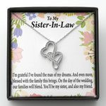 Also My Friend Message Card Double Hearts Necklace Gift For Sister In Law