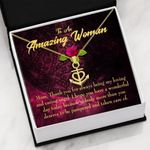 Gift For Amazing Woman Deserved The Pamper 18K Gold Anchor Necklace