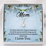 I Love You Gift For Mom Flowers Alluring Beauty Necklace
