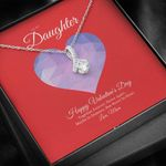 Happy Valentine's Day Together Forever Alluring Beauty Necklace Mom Gift For Daughter