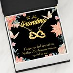 Gitf For Grandmother I Hope You Feel Special On Mother's Day Infinity Heart Necklace