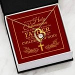 Gift For Dad My First Holy Communion Children Of God   Forever Love Necklace