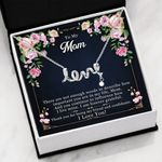 I Love You Gift For Mom Scripted Love Necklace
