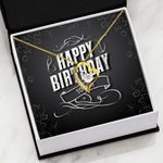 Birthday Card Black And White Forever Love Necklace Gift For Women Forever Love Necklace Forever Love Necklace