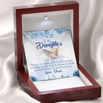 Dad's Prayer To Daughter Interlocking Hearts Necklace Gift For Women
