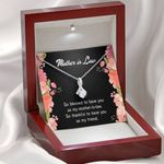 Blessed To Have You As My Mother In Law Gift For Mother In Law Alluring Beauty Necklace