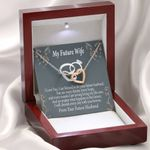 Cherish Every Day With You Interlocking Hearts Necklace Gift For Future Wife