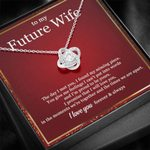The Day I Met You Love Knot Necklace With Mahogany Style Gift Box For Future Wife