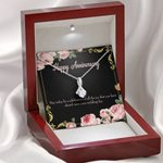 Gift For Wife Happy Anniversary Alluring Beauty Necklace
