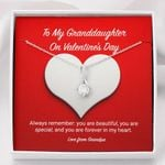 Alluring Beauty Necklace Grandpa Gift For Granddaughter Always Remember