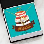 Birthday Cake Gift For Lover 18K Gold   Forever Love Necklace
