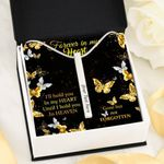 Gone But Not Forgotten Butterfly Gift For Angel Mom Vertical Bar Necklace