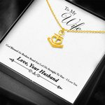 God Blessed The Broken Road Husband Gift For Wife 18K Gold Anchor Necklace