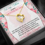 Happy Mother's Day To My Mom From Daughter Brighten My Life Forever Love Necklace