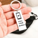 Call Your Mother Gift Engraved Keyring