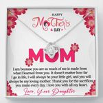 I Love You With All My Heart Gift For Mom Love Knot Necklace