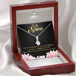 Happy Mother's Day Gift For Nana 14K White Gold Alluring Beauty Necklace With Mahogany Style Gift Box