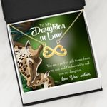 Gift For Daughter In Law You Are A Perfect Gift To Me 18K Gold Infinity Heart Necklace