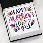 Colorful Leaves Happy Mother's Day  Anchor Necklace