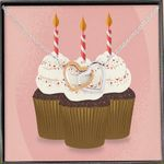 Birthday Cup Cakes Birthday Gift For Daughter Interlocking Hearts Necklace
