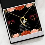 I Really Admire You 18K Gold Forever Love Necklace Gift For Lovers Forever Love Necklace Forever Love Necklace