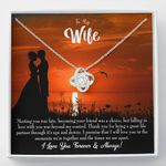 I Love You Forever And Always Gift For Wife Love Knot Necklace