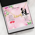 If I Had To Choose Scripted Love Necklace Gift For Wife