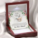 I Am Blessed To Have You Gift For Wife Interlocking Hearts Necklace With Mahogany Style Gift Box