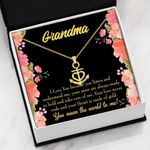 Grandma You Mean The World To Me Anchor Necklace
